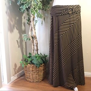Robert Louis Brown/Black Maxi Skirt Size 1X